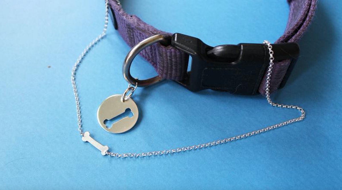 These Matching Dog Collar & Necklace Charms From Etsy Are True BFF Goals