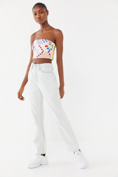 Allover Print Cropped Tube Top