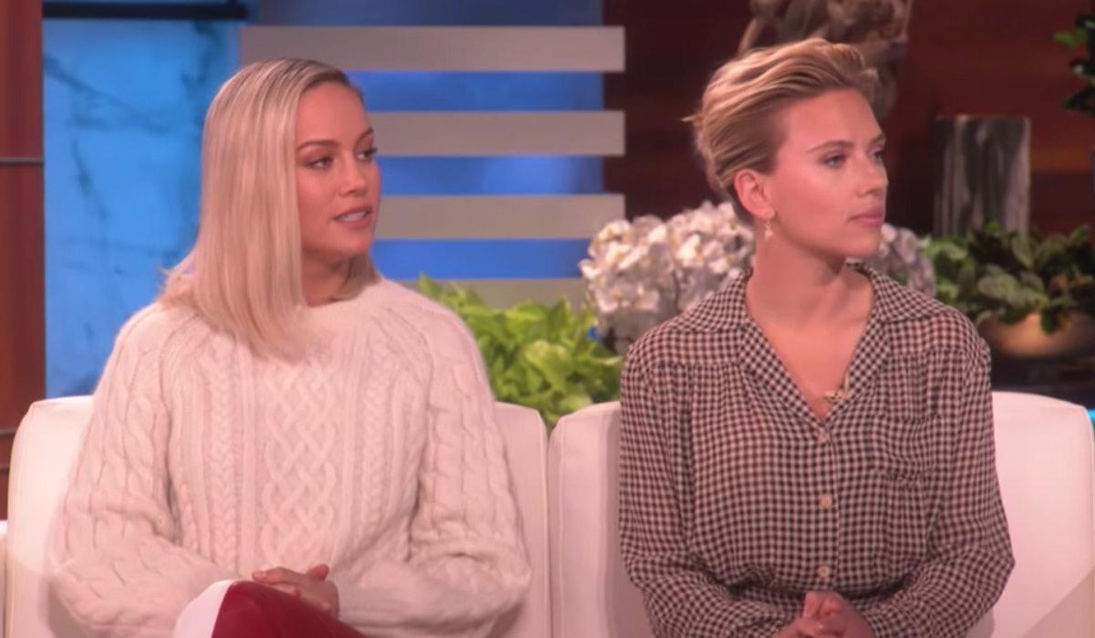 Brie Larson & Scarlett Johansson's Friendship Started Way Before Starring In 'Avengers: Endgame' — VIDEO