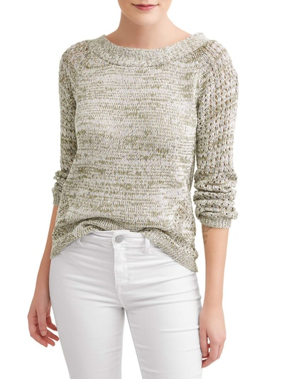 Heart N Crush Women's Marled Cross Back Pullover