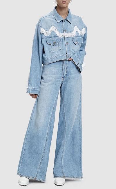 Sheldon Western Denim Jacket & Wide Leg Jean