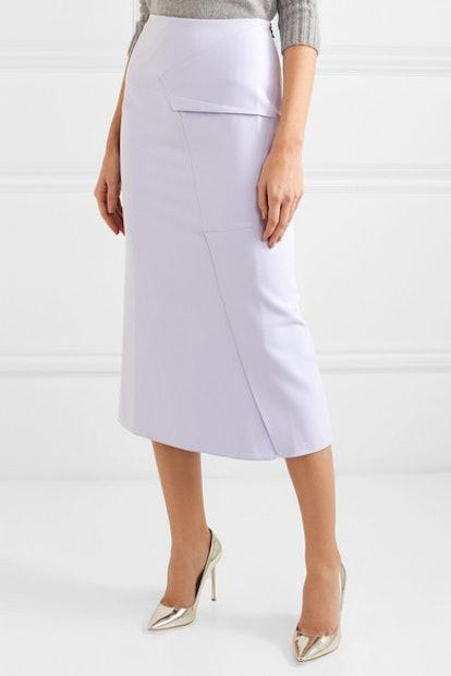 Abrams Folded Crepe Midi Skirt