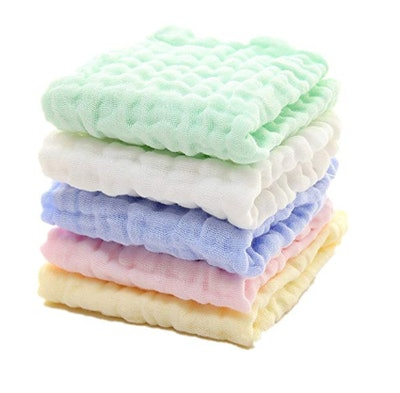 Mukin Baby Muslin Washcloths (5-Pack)