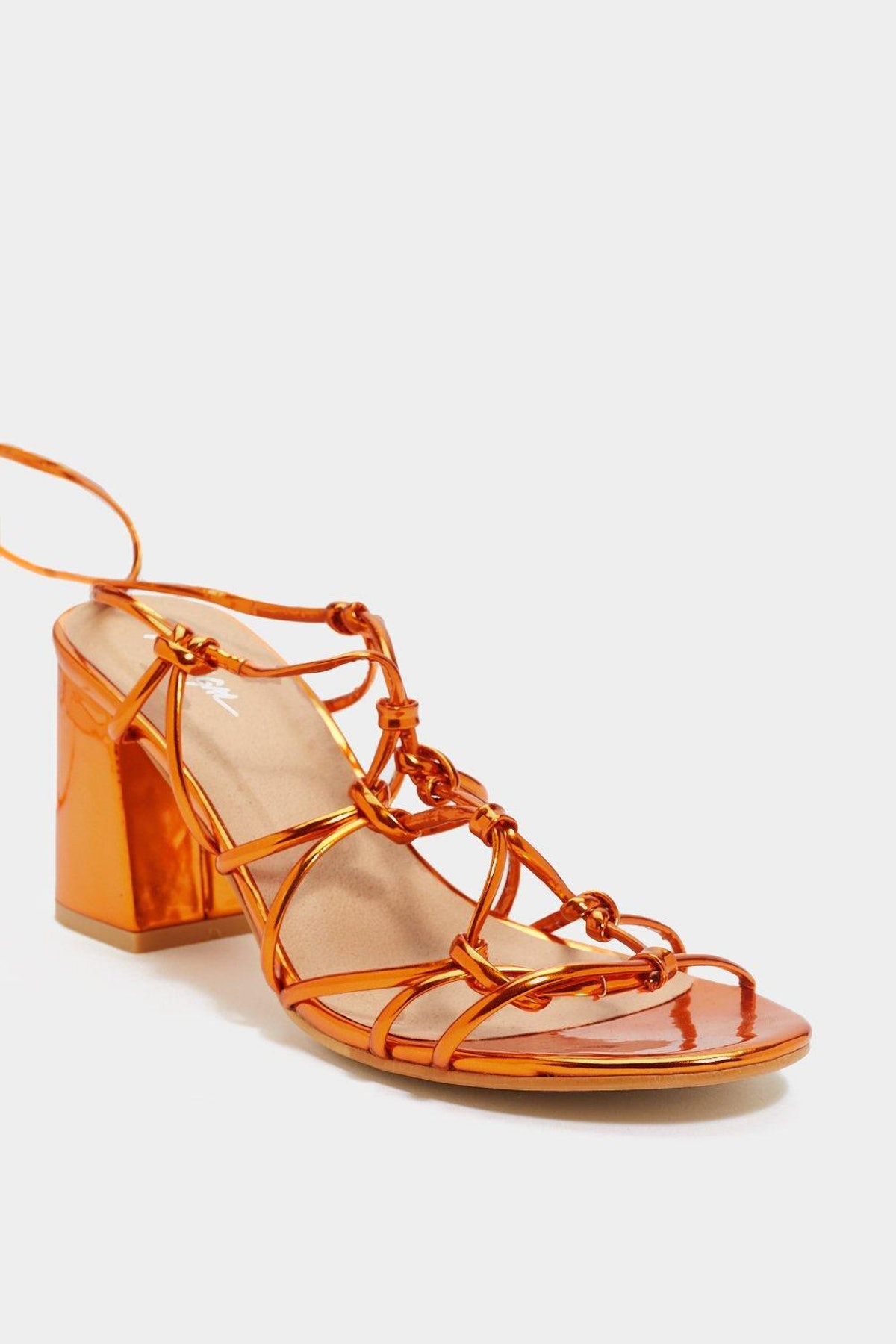 Knot a Lot to Ask Strappy Tie Sandals