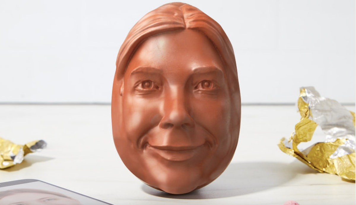 This Personalized Chocolate Face Egg From Firebox Is A Nightmare You Can Eat