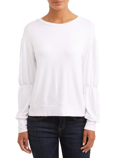 LA Gypsy Women's Cinched Arm Sweatshirt