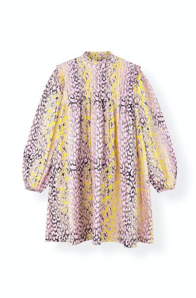 Printed Cotton Poplin Mini Dress