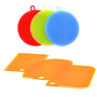 SimplyNonSlip Silicone Scrubbers and Scrapers (3 Pack)