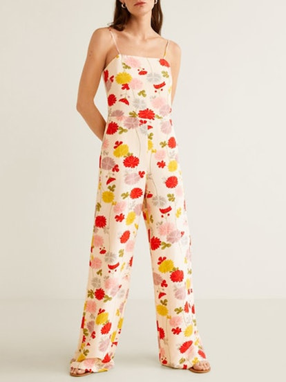 Flower Linen-Blend Jumpsuit