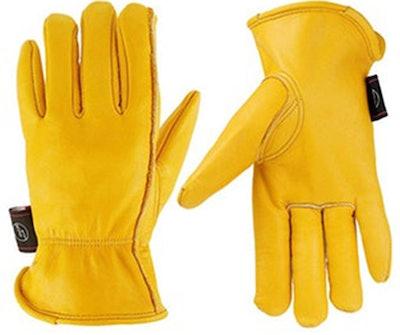 KIM YUAN Leather Gardening Work Gloves