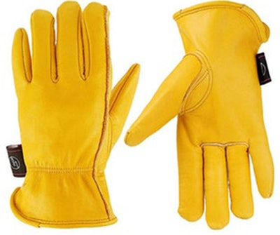 KIM YUAN Leather Gardening Work Gloves