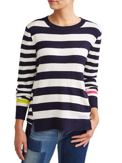 Ev1 From Ellen Degeneres Striped High-Low Sweater Women's