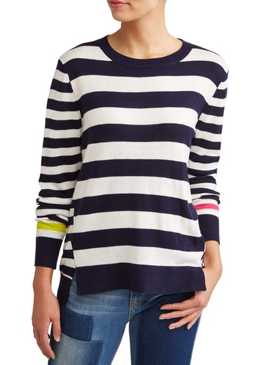 Ev1 From Ellen Degeneres Striped High-Low Sweater Women's