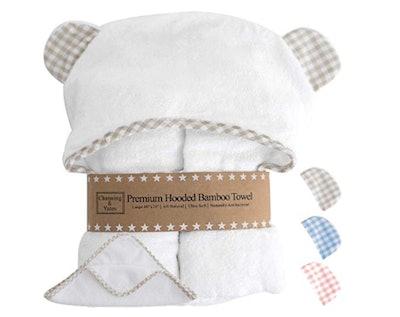 Channing & Yates Premium Hooded Baby Towel & Washcloth Set