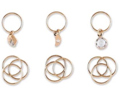 Sincerely Jules by Scunci Metal Hair Jewelry Rings