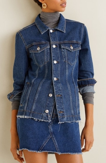 Medium Wash Denim Jacket & Miniskirt