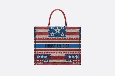 Exclusive American Flag Dior Book Tote