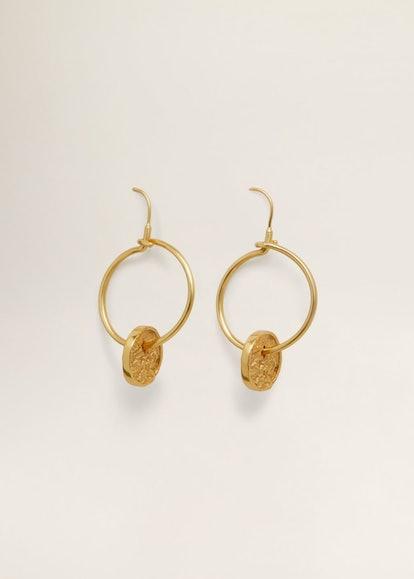 Monet Hoop Pendant Earrings