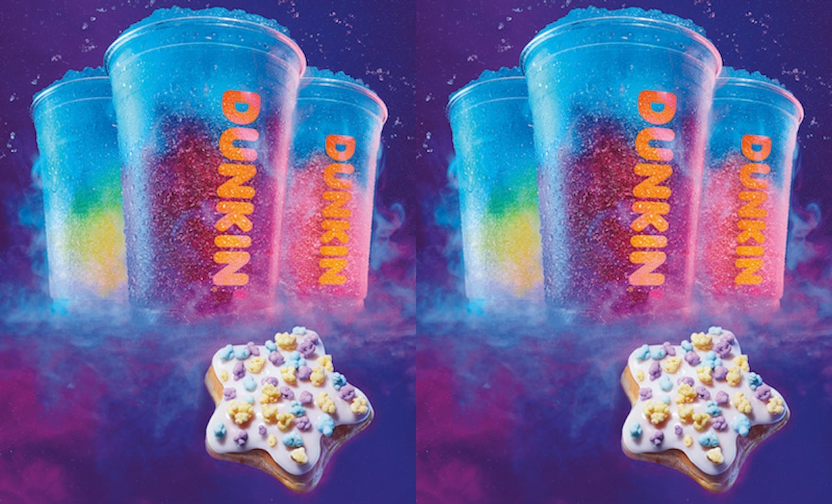 Dunkin's New Shooting Star Donut & Cosmic Grape Coolatta Are Here To Make You Starry-Eyed
