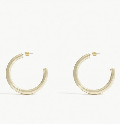 Large Hoop Earrings In Gold