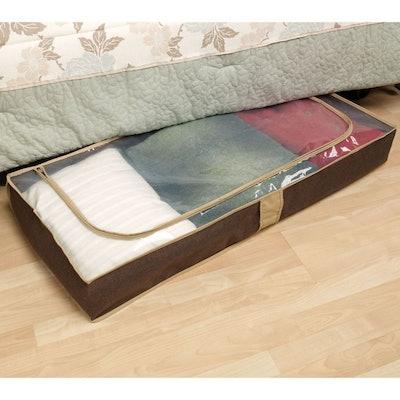 Household Essentials Under Bed Storage Bag in Coffee