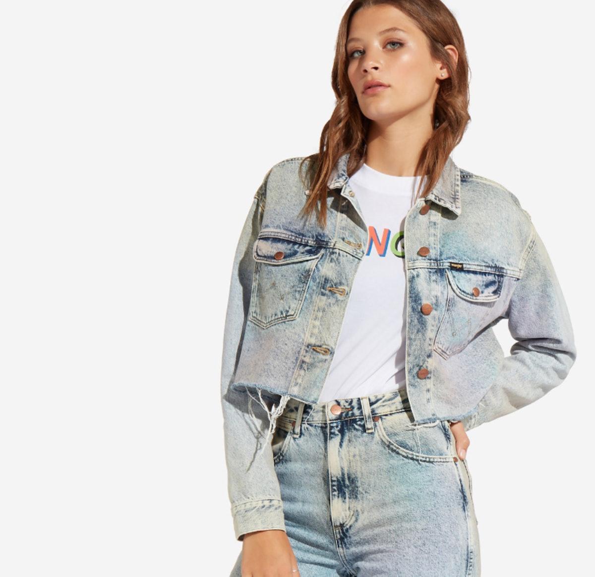 Retro Crop Denim Jacket