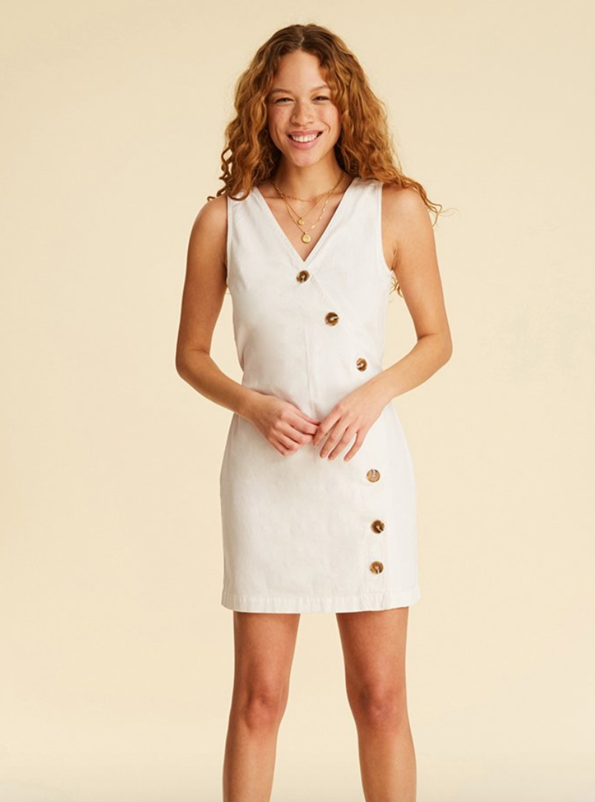 HTO Button Front Dress