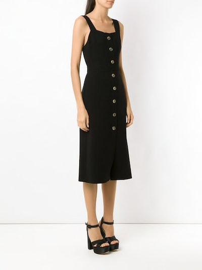 Buttoned Midi Dress