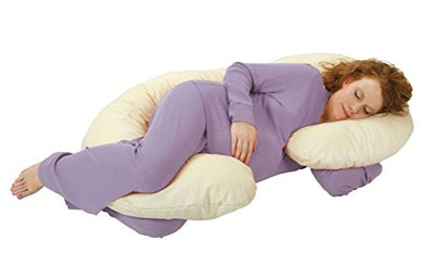 Leachco Snoogle Pregnancy Pillow With 100% Organic Cotton Cover