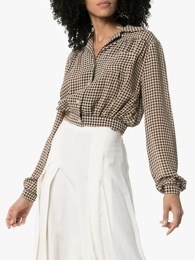 Tahnee Checked Cropped Shirt