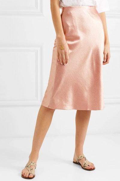 Hammered-Satin Skirt
