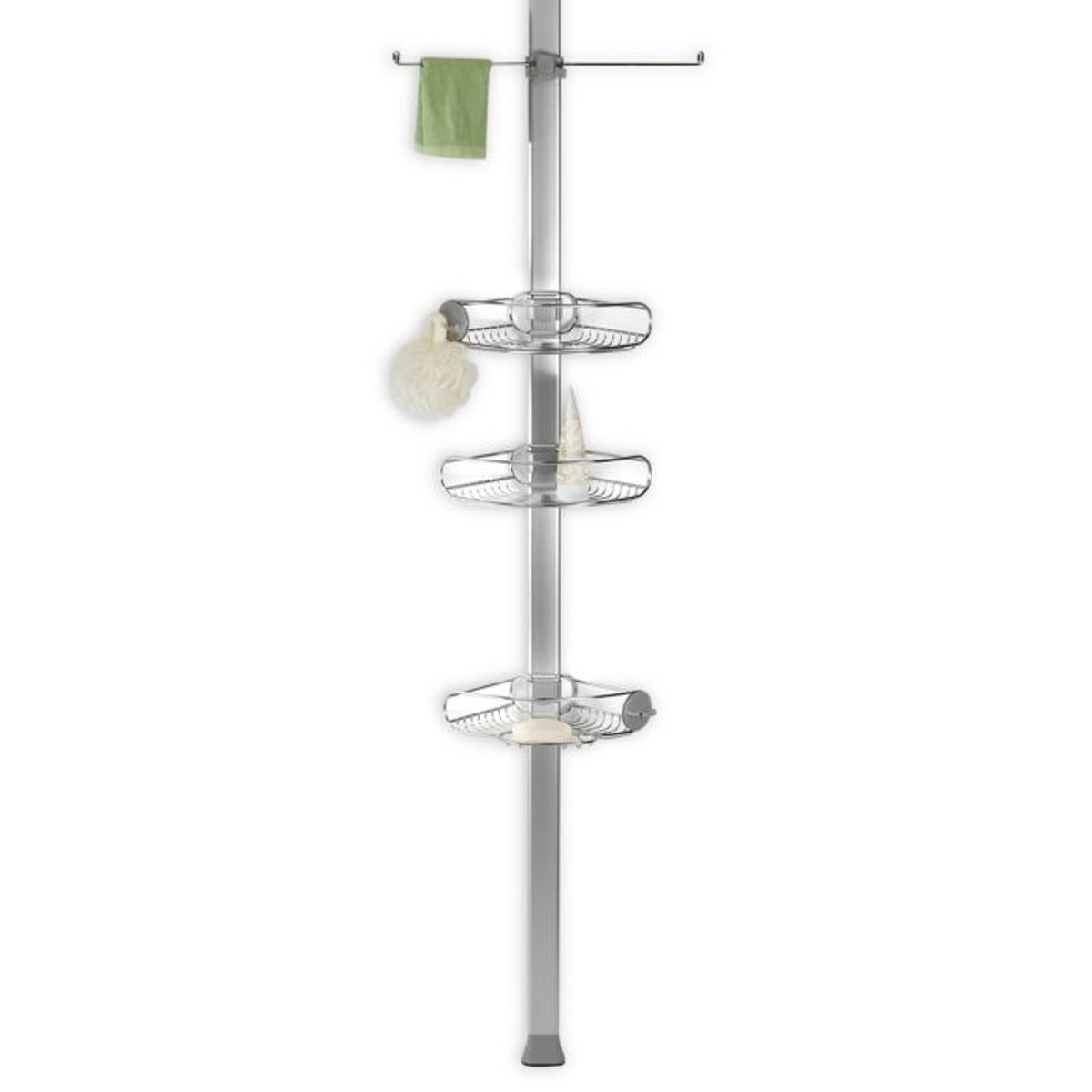 simplehuman® Stainless Steel Tension Shower Caddy