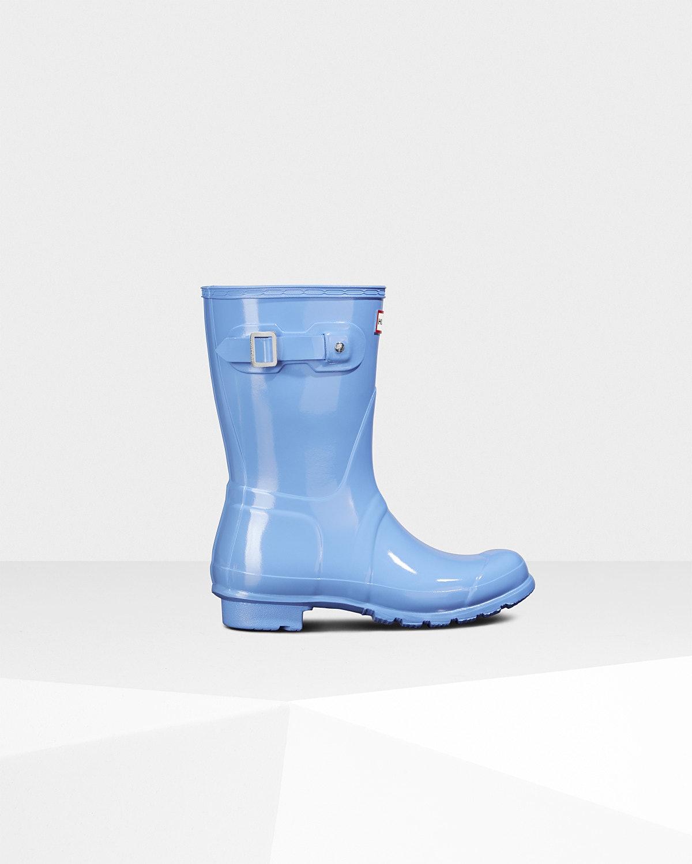 Women's Original Short Gloss Rain Boots: Vivid Blue