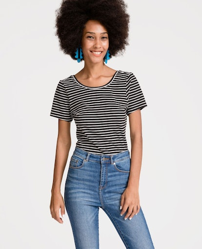 Compact Jersey Wrap Back Top