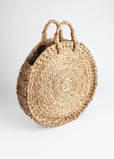 Woven Straw Circle Bag