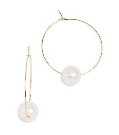 Freshwater Cultured Pearl Around Hoop Earrings