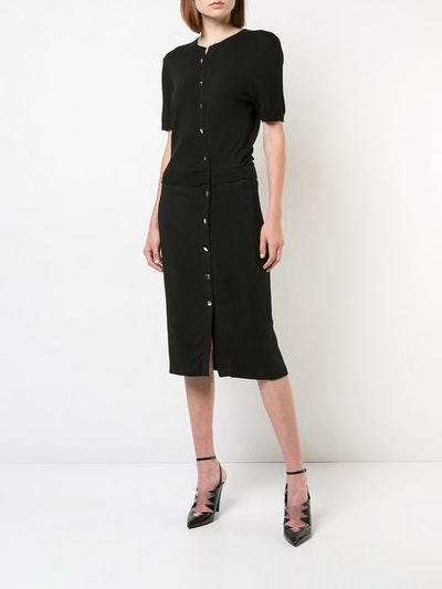 Mid-Length Buttoned Dress