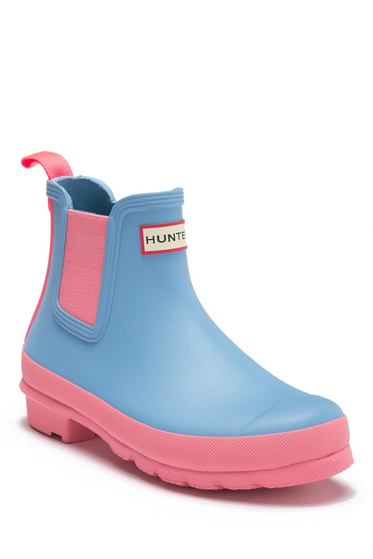 Hunter Original Chelsea Colorblock Waterproof Rain Boot