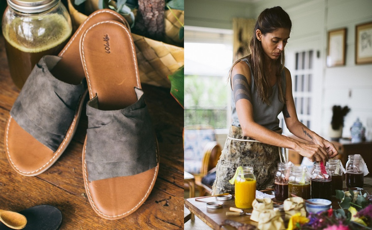 OluKai's Sustainable LIKO Shoe Collection Is Hand-Dyed With Natural Plants Found In Hawaii