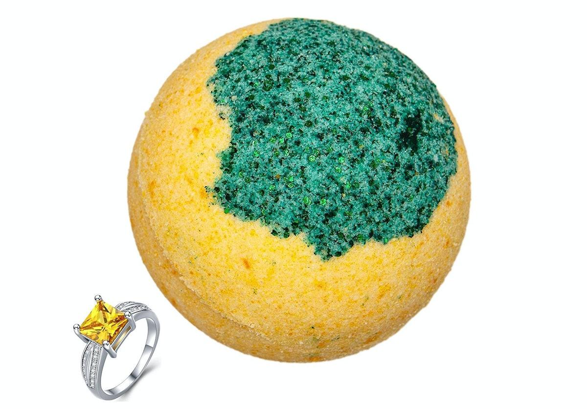 Addicted To Soap Lemon Ring Bath Bomb