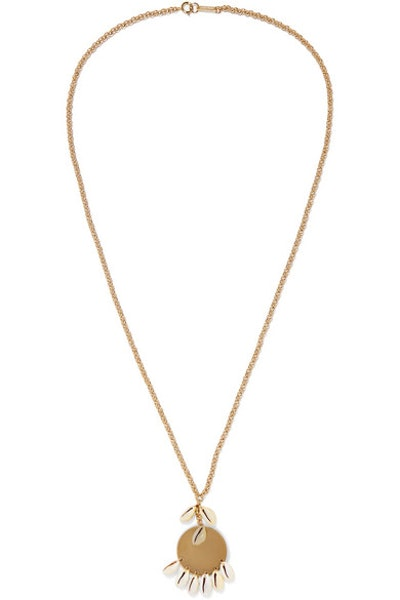 Gold-Tone And Shell Necklace
