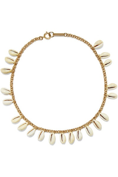 Gold-Tone And Shell Choker