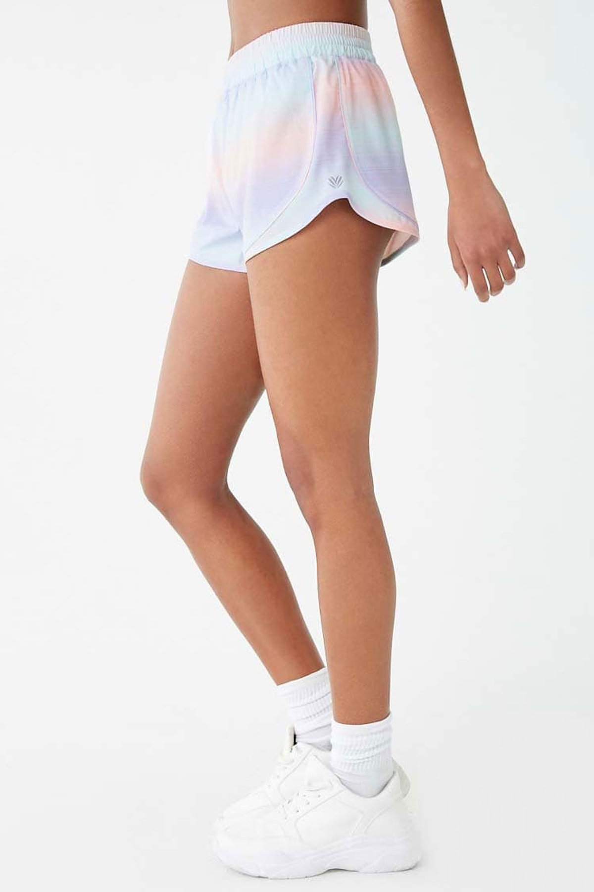 Active Multicolor Striped Dolphin Shorts