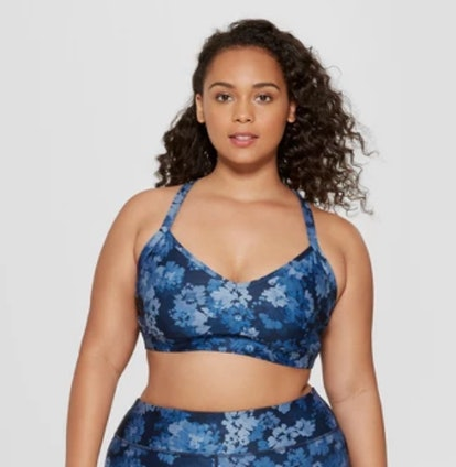 Women's Plus Size Floral Print Sports Bra - JoyLab