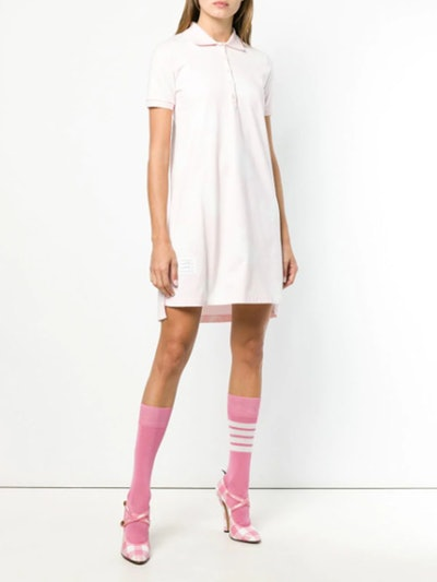 Whale Icon A-Line Polo Dress