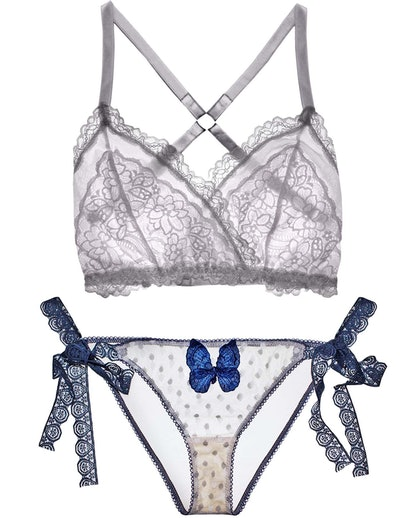 Lacey Easy Fit Bralette & Butfferfly Kisses Panty Set