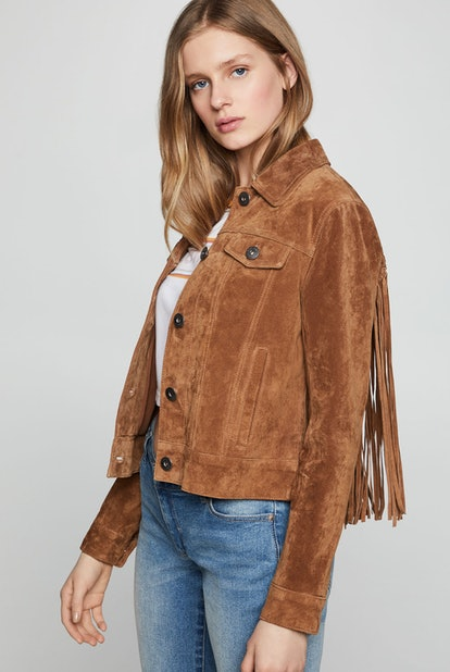 Braided Fringe Suede Jacket