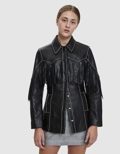 Heavy Fringe Leather Jacket