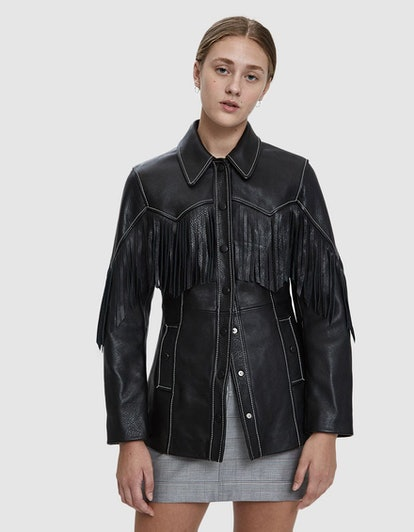 Heavy Fringe Leather Jacket