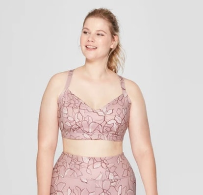 Women's Plus Size Comfort Floral Print Sports Bra - JoyLab